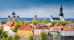 View of the old town. Tallinn, Estonia, Europe