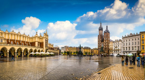 Krakow - Poland's historic center, a city with ancient architecture.